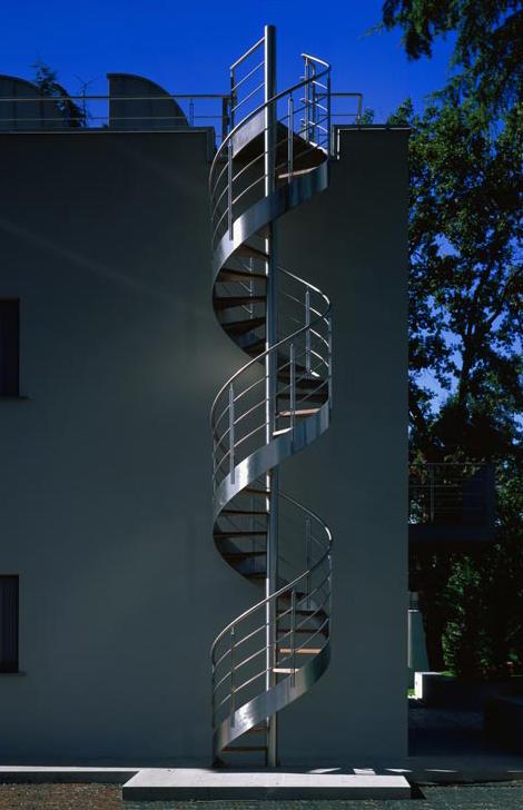 Metal spiral staircase staircase design - Spiral staircase exterior aluminum ...