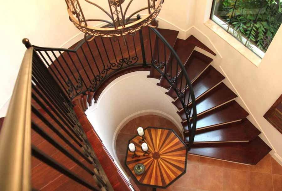 Spiral staircase plans staircase design for Spiral staircase plan