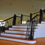 black handrails for stairs