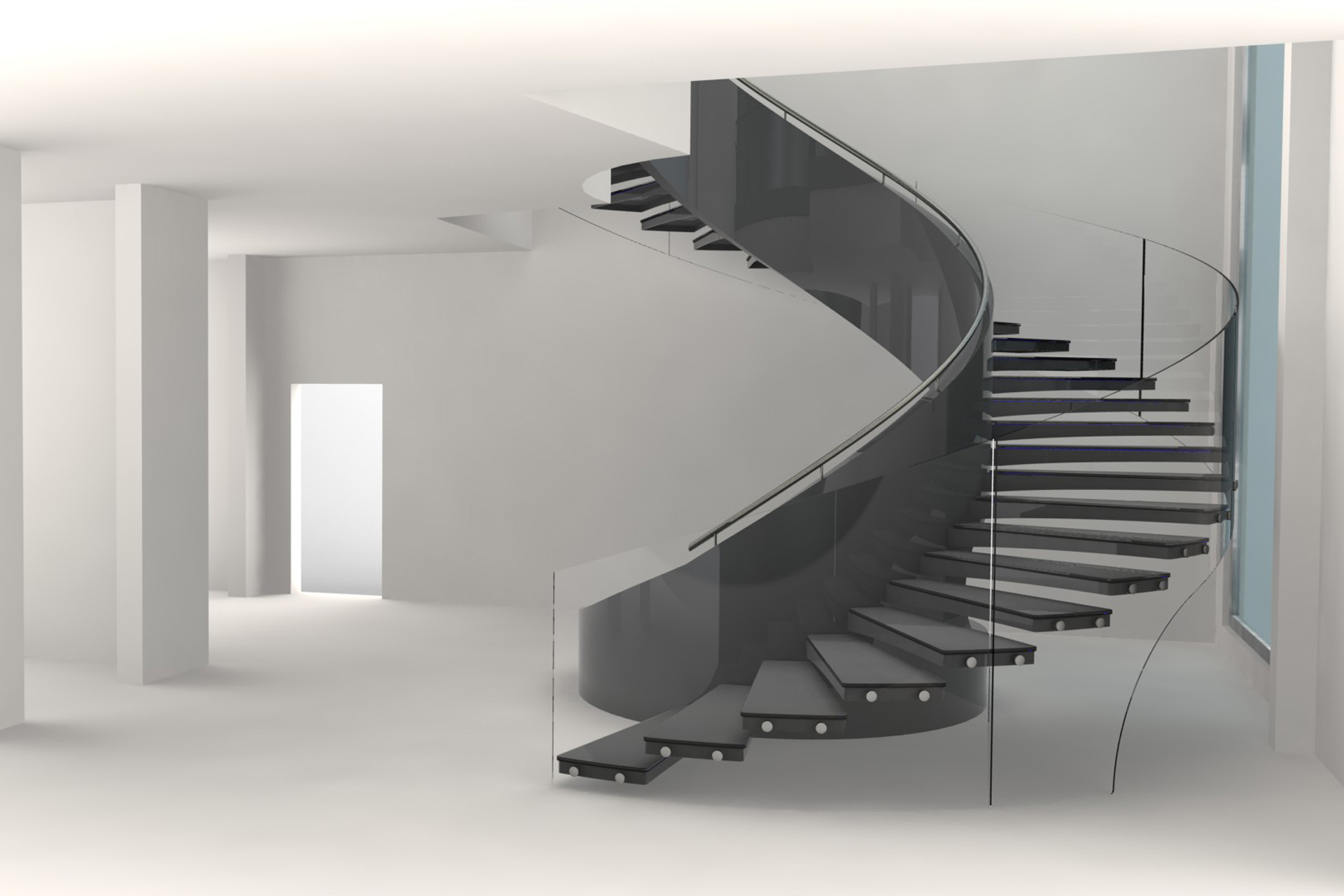 Curved Staircase Design Staircase Design