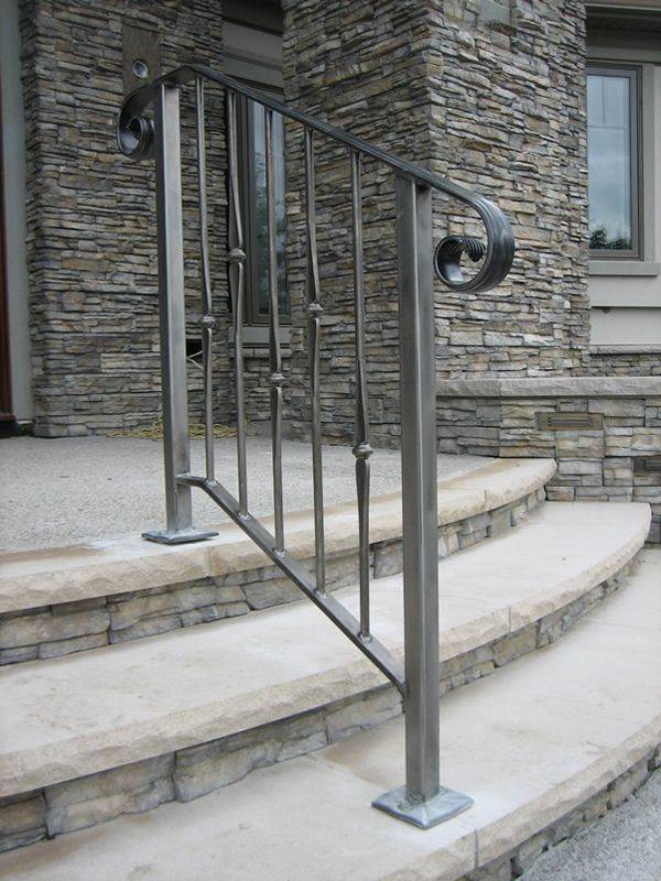 exterior stair handrail – Staircase design