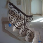 iron handrails for stairs interior