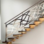 metal handrails for stairs interior