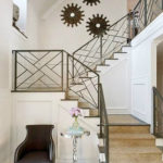 metal stair railing indoor