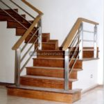 oak handrails for stairs