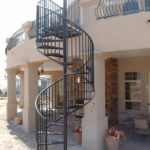 outdoor metal spiral staircase