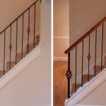stair handrail installation
