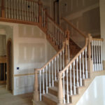 turned newel post