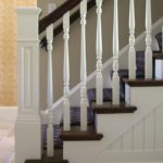 white newel post