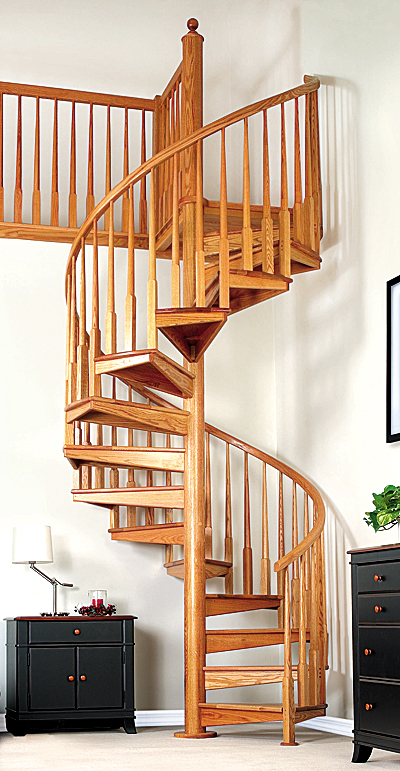 Wide Spiral Staircase