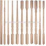 wood spindles for stairs