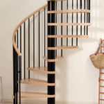 wooden spiral staircase kit