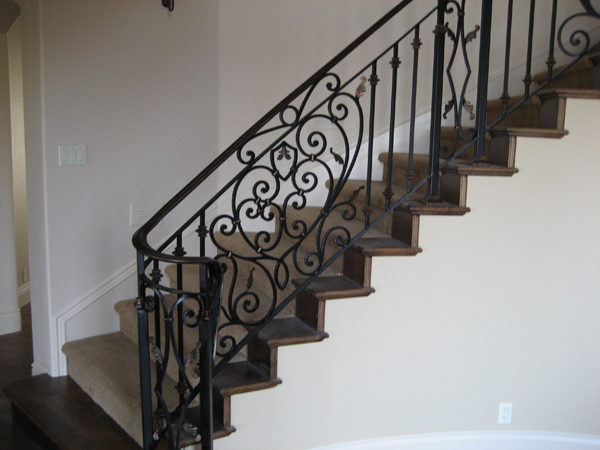Attractive Wrought Iron Stair Railing