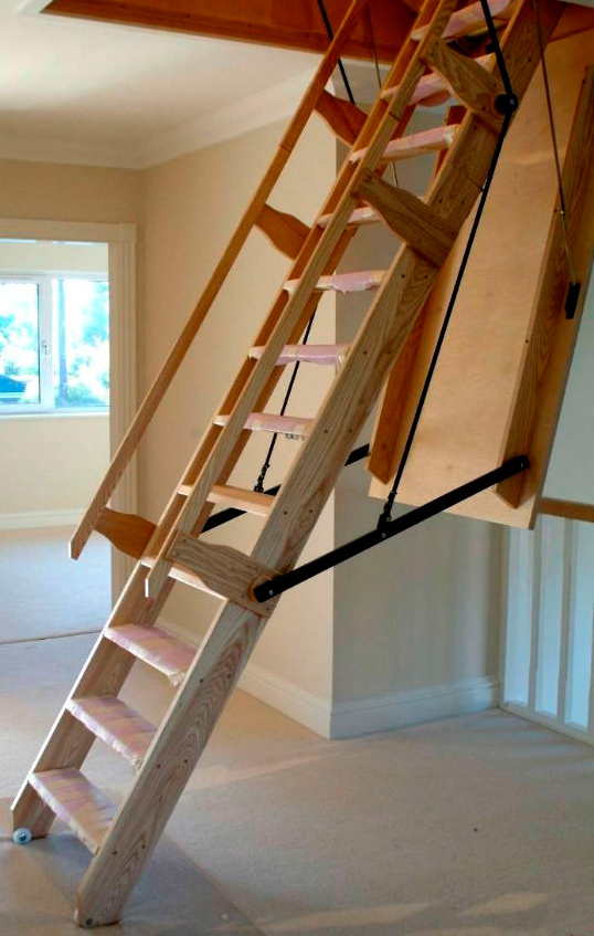 Folding Ladder To The Attic Is The Best Choice For Space