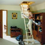 Light wooden ladder Velta