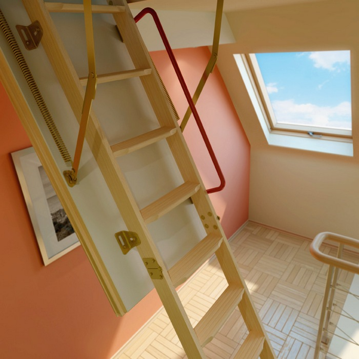 for example company fakro the most compact version of the ladder to the loft they are especially convenient for small cozy houses where the rational