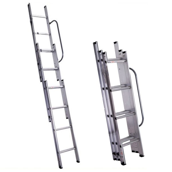 3 section step ladder technique