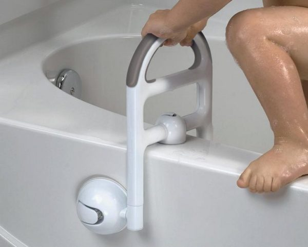 Such handrails will protect children, disabled people and the elderly when leaving the bath