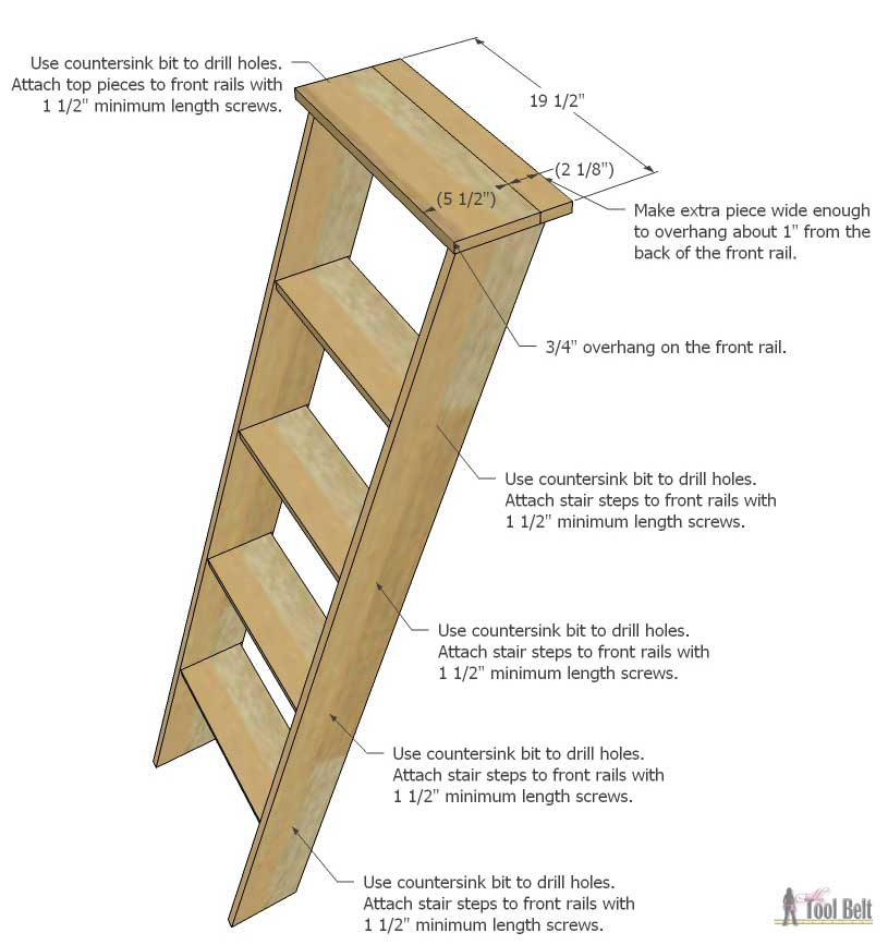 How To Build A Wooden Ladder Staircase Design