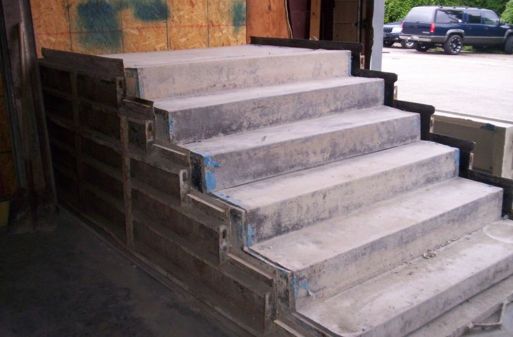 Forming Concrete Steps