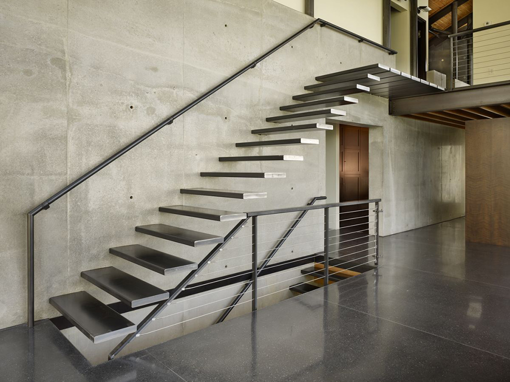 Superb Metal Stair Design And Layout