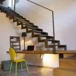 open terrace metal stairs design