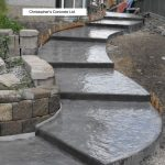 outdoor concrete stairs