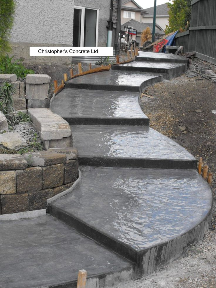 Outdoor Concrete Stairs Staircase Design