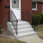 single concrete steps