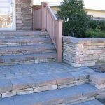 stacked stone staircase
