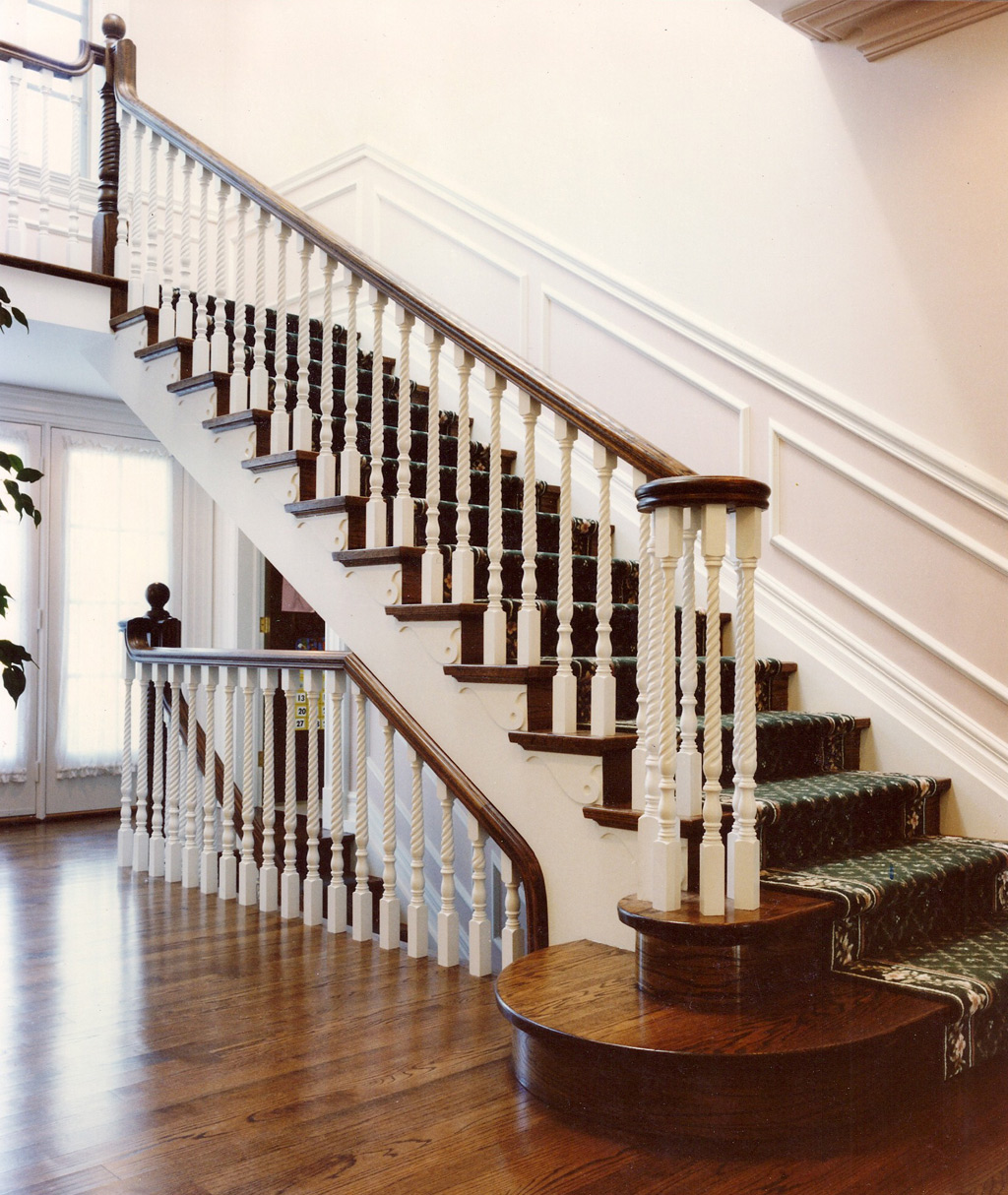 Staircase Wood Railing Designs