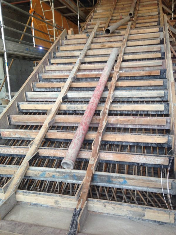 How to make a formwork for concrete stairs stair case for Pre built stairs interior