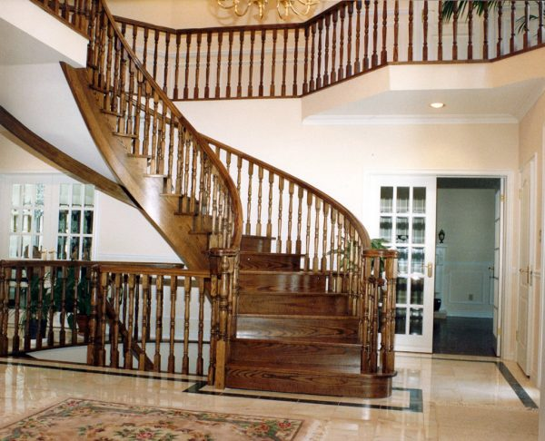 wooden staircases and railings
