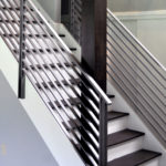 metal modern stair railing